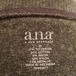 a.n.a Tops - a.n.a. Sheer, Shimmering Silver top